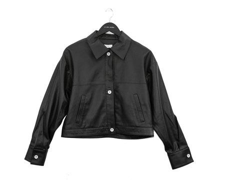Aeron Triangle Cuff Biker Jacket  - Black
