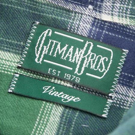 Gitman Vintage Twill Shirt - Green Plaid