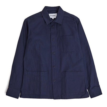Corridor Water Resist 10 oz Duck Overshirt - Navy