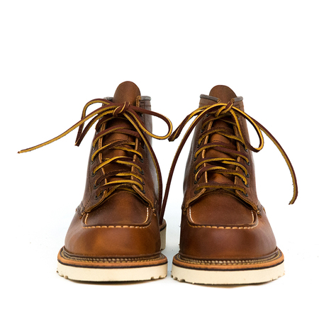 """Red Wing 6"""" Moc Toe with Footbed Rough & Tough Boots - Copper"""