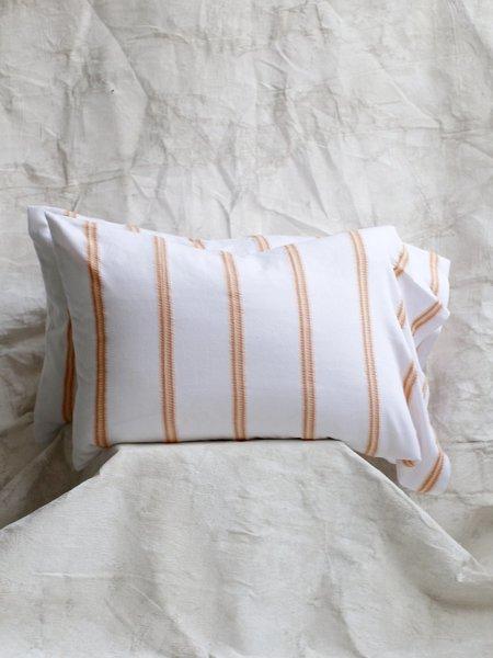 Cuttalossa Bengal Stripped Pillowcase - Tangerine