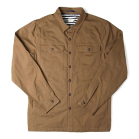Bridge & Burn Crest Overshirt - Bronze