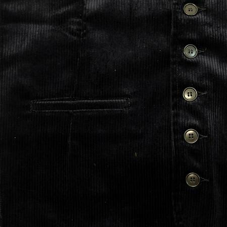 Vetra Medium Wale Corduroy Vest Waistcoat - Navy