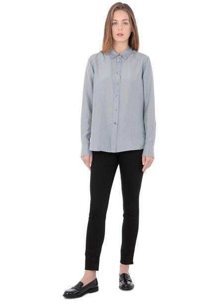 Filippa K Washed Silk Shirt - Steel Grey