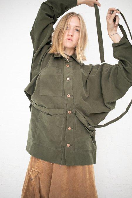 Bernhard Willhelm Short Button Up Coat - Green