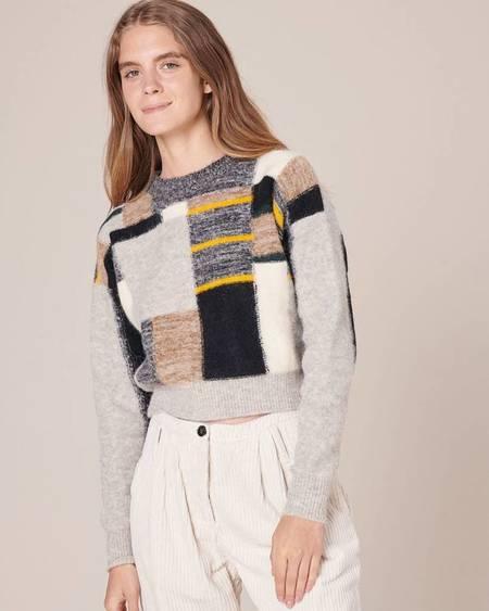Sessun Mckinley Jacquard Pullover - White/Black