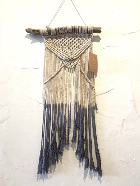 Claudine Lally Macrame Wall Hanging - Blue Ombre