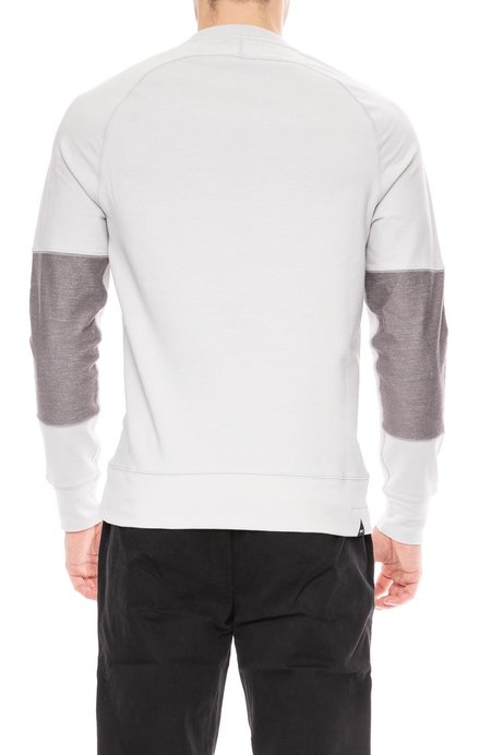 Denham Endeavor Sweatshirt With Sleeve Detail - Sword Grey