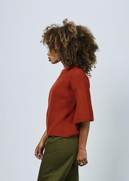 Odeeh Bell Sleeve Knit Sweater - Terracotta