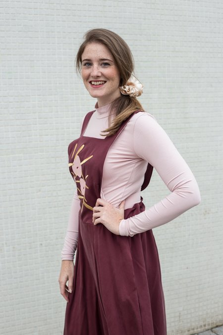 Noémiah Lise Embroidered Jumpsuit - Burgundy