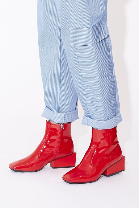 Kurt Lyle Regina Patent Leather Boot - Red
