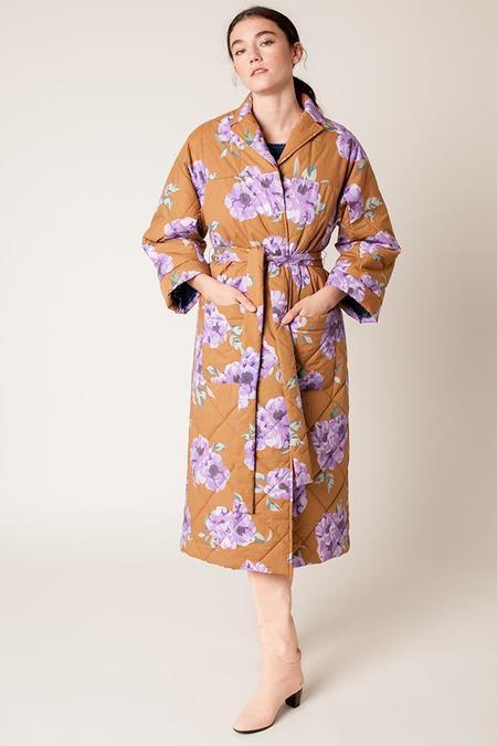 Rachel Antonoff Louie Quilted Robe - Venti Floral