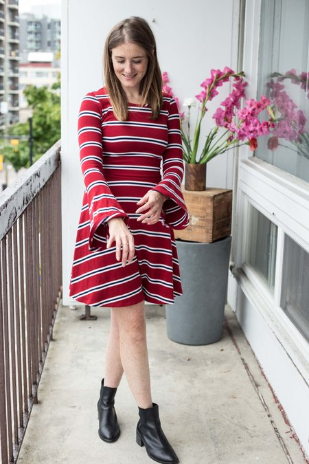 Meemoza Fonda Dress - Red Stripes
