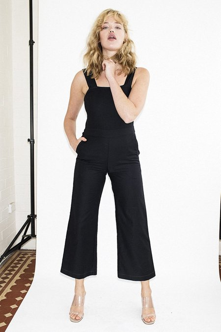 Permanent Vacation Wide Leg Jumpsuit - Black