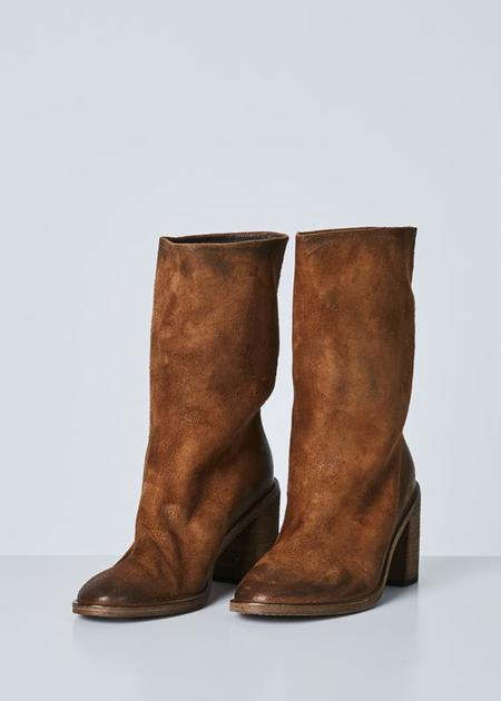Marsèll Women's Tapiro Pull On Boot - Brown Suede