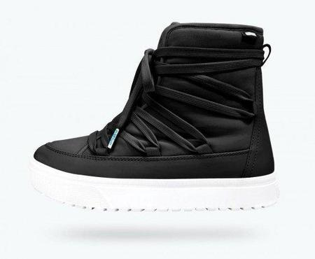 Native Shoes CHAMONIX ADULT BOOT - JIFFY BLACK/SHELL WHITE