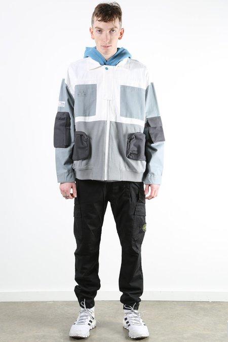 C2H4 X NUMBER (N)INE Hybrid M65 jacket - Grey/White