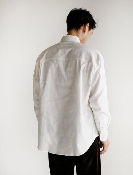 Auralee Fink Shuttle Ox BD Shirt - White