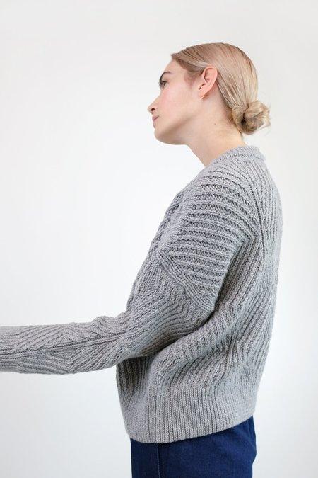 Micaela Greg Bevel Sweater - Melange Light Grey