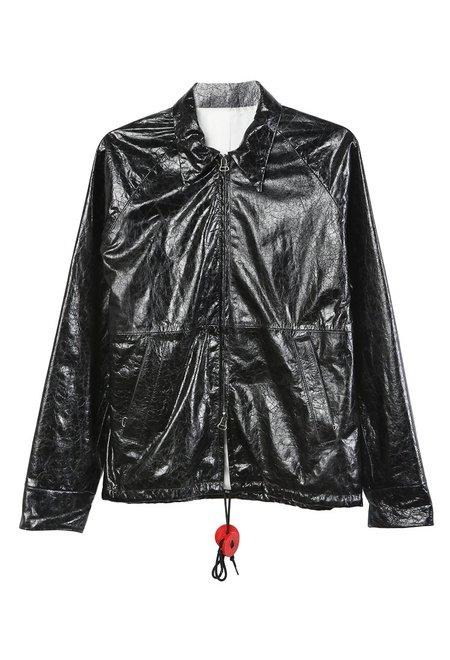 Westley Austin Leather Windbreaker - Black