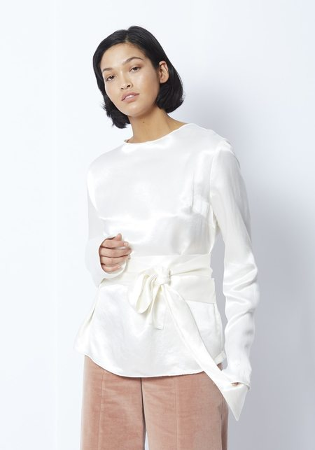 Paris Georgia Alba Silk Top - White
