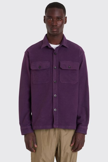 Tres Bien Moleskin Over Shirt - Purple