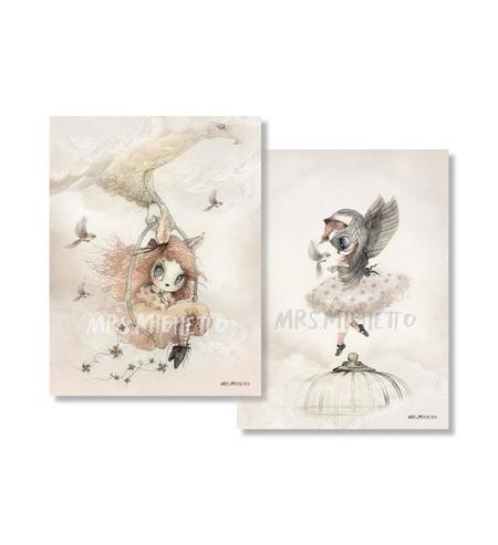 KIDS Mrs. Mighetto 2-Pack Miss Annie & Miss Sofia 18x24cm POSTER