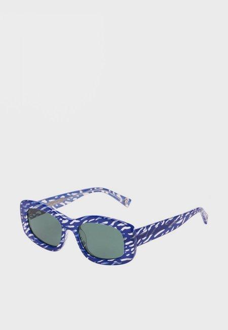 Le Specs X Double Rainbouu Five Star Sunglasses - Blue Ripple