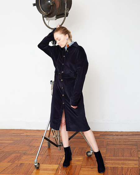 INGA-LENA The Toni Trench COAT - Deep Navy