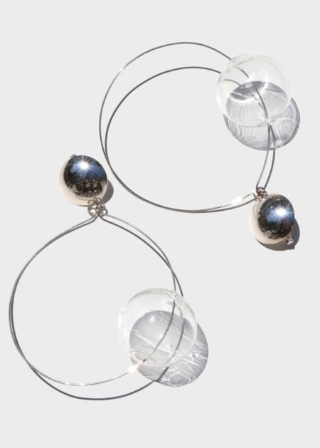 Modern Weaving Whole Earth Hoop - Sterling Silver