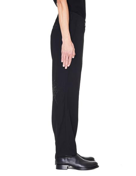 Yohji Yamamoto Printed Wool-Gabardine Pants - Black