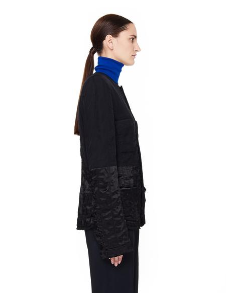Haider Ackermann Satin-trimmed Quilted Jacket - Black