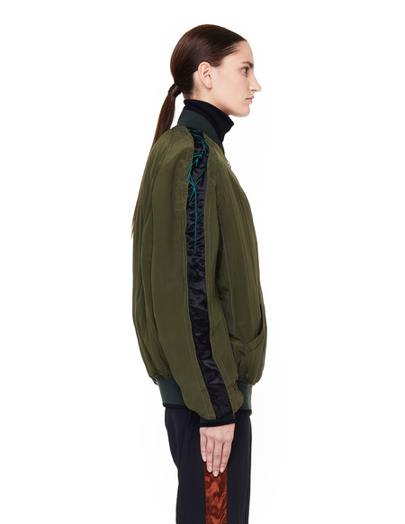 Haider Ackermann Quilted Silk Bomber Jacket - Green