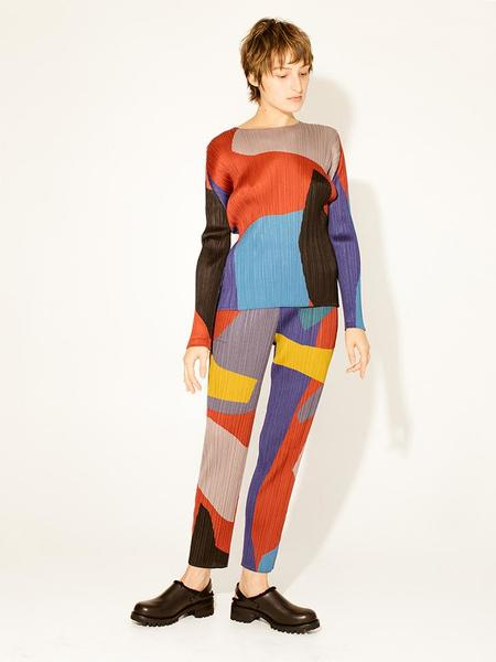 Issey Miyake Clumpy Color Top - Bordeaux