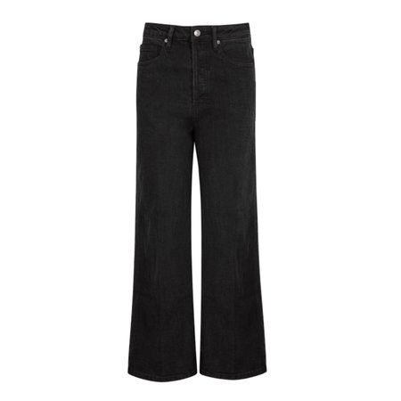 Free People Wales Wide Leg Jeans - black