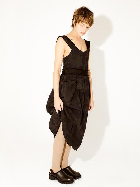 Suzanne Rae Ribbon Trim Dress - Black Floral