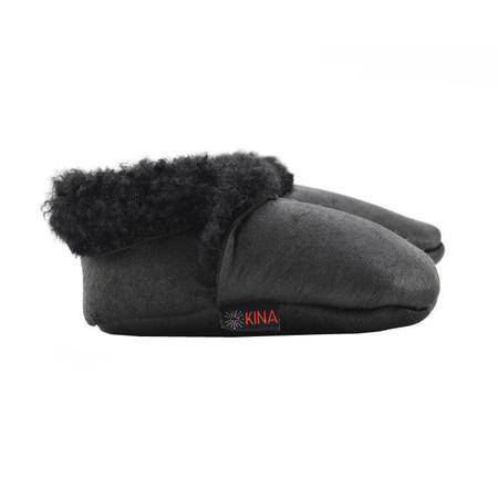 Kina Booties Shearling Baby Bootie - Black