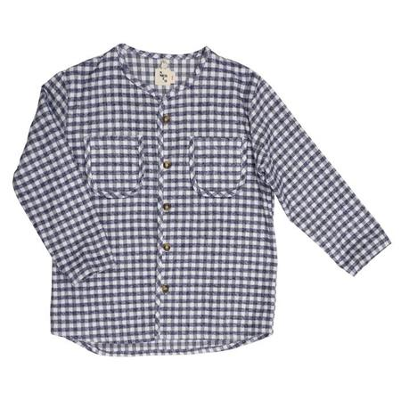 Kids Nico Nico Baby And Child Becker Shirt - Grey Plaid