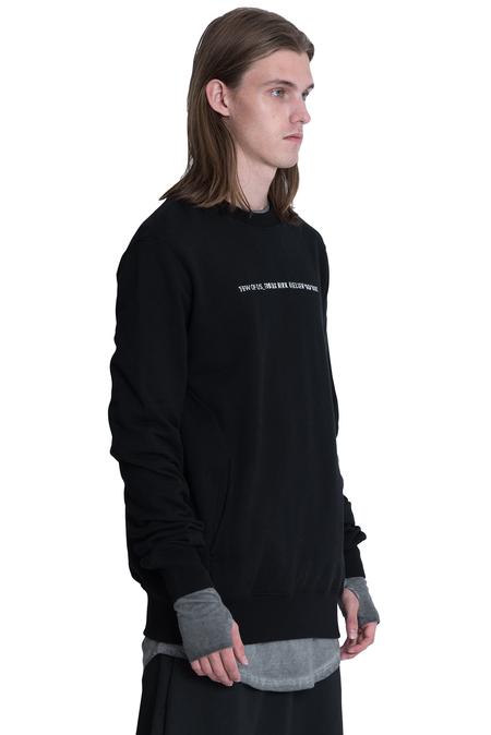 Tobias Birk Nielsen Embroidered Base Crewneck Sweatshirt - Black