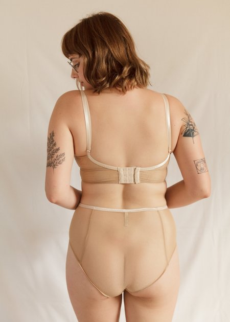Lorette Lingerie Innocence High Waist Brief - NUDE