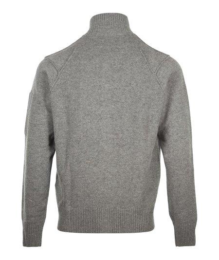 CP Company Zip Through Cardigan Knit - Grey