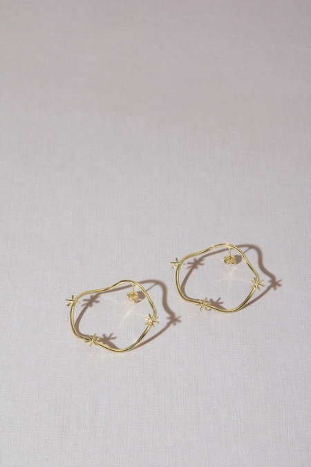 Anne Thomas Amelia Earrings - 18k Gold Filled