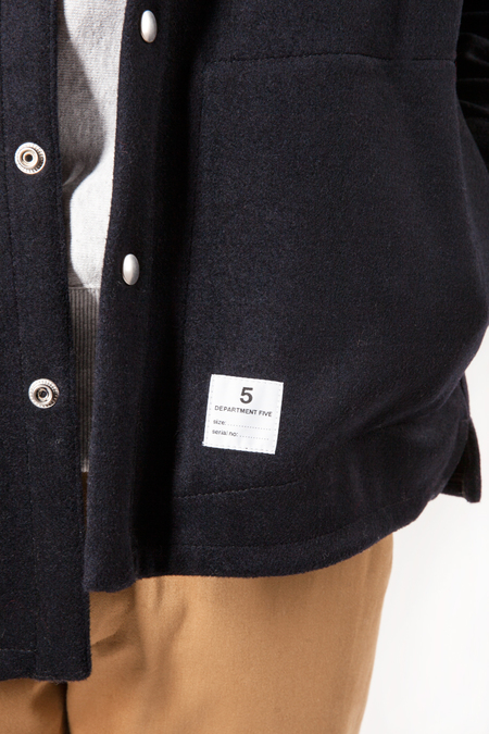 DEPARTMENT.5 Wool Shirt Jacket - Navy