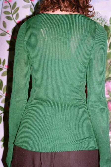 Baserange Lou Lou Cardigan - Galea Green