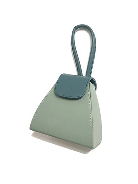 Atelier Park Color Block Handle Bag - Mint Green