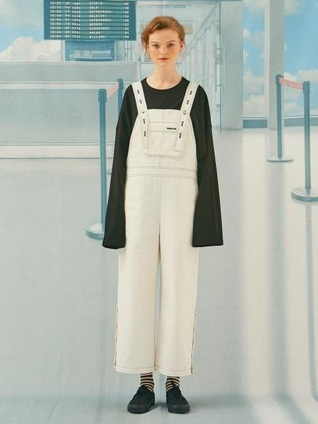 Another A Button Up Overalls - Off White
