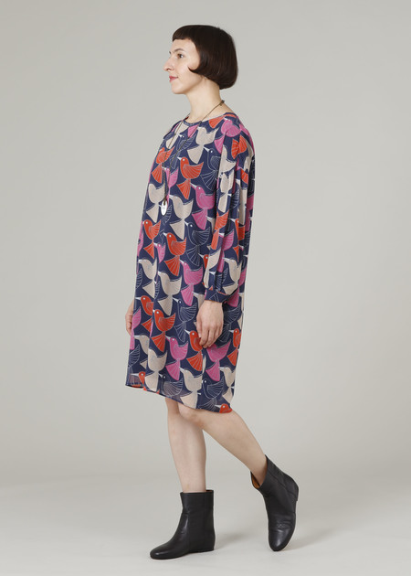 PLAINLESS DRESS - BIRD PRINT