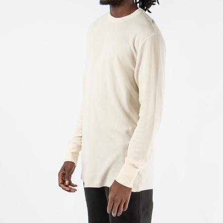 Aimé Leon Dore Long Sleeve Distressed Birdseye Thermal - Cream