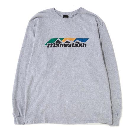 Manastash Scheme Logo Long Sleeve T-shirt - Grey
