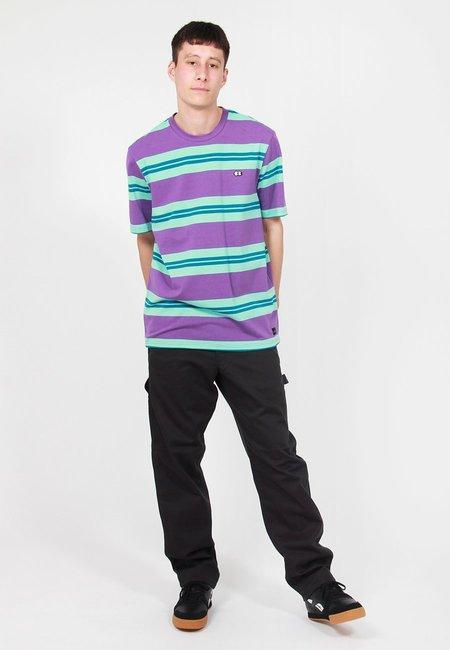Lazy Oaf Stripy Eyes T-Shirt - Purple